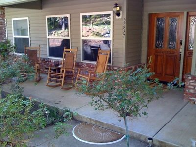 Relax on the Rocking Chairs on the Front Porch