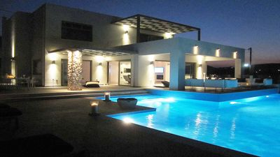 New Luxury Beach front Villa large private pool & amazing sea view