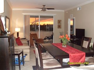 Naples condo photo - Living Area Sunset Beyond