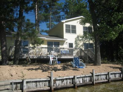 View of Bass Lake Pines Cottage from the dock