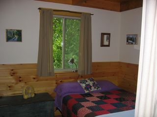 Newfound Lake house photo - Cozy bedroom on main level