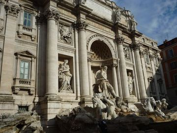 A 2 minute walk away is the Trevi Fountain, toss in your coins & make a wish!