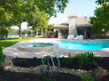 Lodi house rental - Your own private resort, beautiful home, pool & spa, tennis, bocce and fire pit