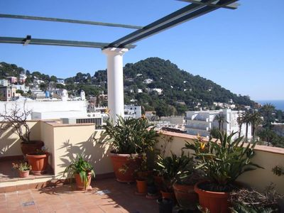 Exclusive apartment in the heart of Capri with large panoramic terrace.