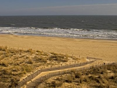 View of beach & sand dunes