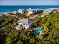 Gulf view compound private pool Sleeps 24 three minute walk to beach.