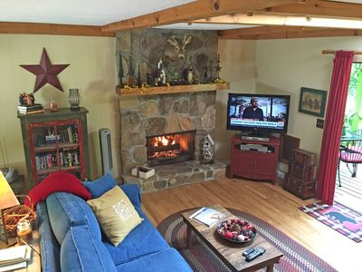 Cozy Family Room with Cable, High-Def LCD TV, VCR, DVD and Games.