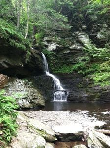 One of the Bridesmaid Falls at Bushkill Falls