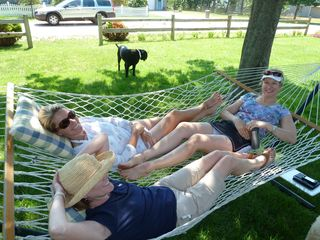 Biddeford house photo - Loll on the hammock under the red maples and in the lovingly cultivated garden.