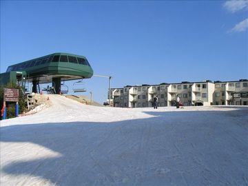 Snowshoe Mountain condo rental - Ballhooter Lift Right Outside Our Condo