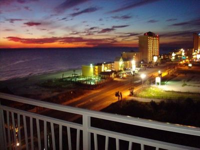 PERFECT ROMANTIC SUNSETS !  THIS is your actual balcony view!