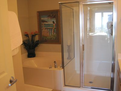 Master Bath with Garden Tub and Standup Shower