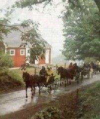 Woodstock house photo - Carriages going past our Carriage House. Traffic Vermont style, even in the rain