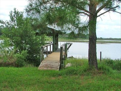 Come rejuvenate at your fishing dock with boat house