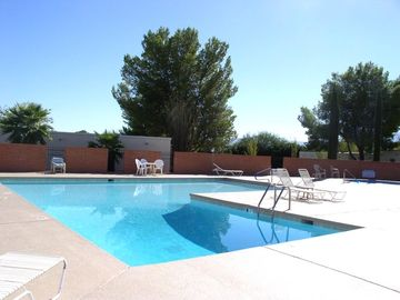 Green Valley condo rental - Heated pool steps away from the home.