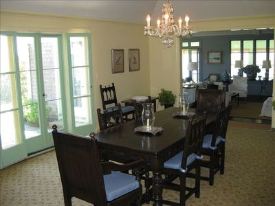 Dining room easily seats 12.