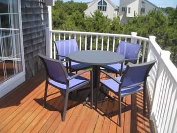 Enjoy a meal or a cool drink on the deck.