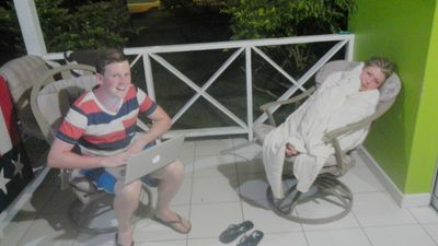 Tobago villa rental - Lounging on the front porch of Soursop