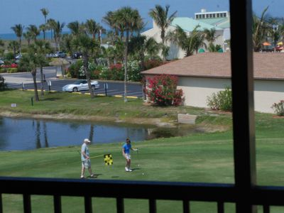 Hutchinson Island apartment rental - 1st Green by our balcony
