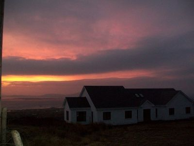 A view of the house during a beautiful Arranmore sunrise!