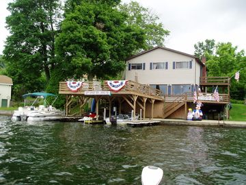 Findley Lake house rental - View from the lake