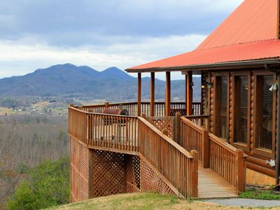 Wears Valley cabin rental - Overlooking Wears Valley and the National Park