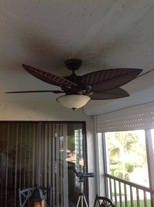 New Fan on Balcony