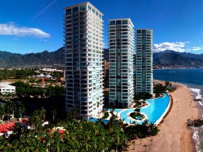 This is the beautiful, luxurious and beach front Peninsula Vallarta!