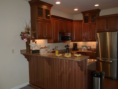 Big Boulder townhome rental - Open custom Eat-In Kitchen.