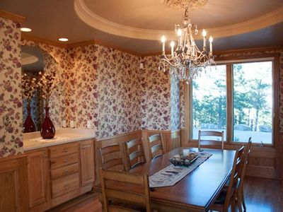 Rapid City house rental - Exquisite formal dining room. All windows have fabulous views of forrested land.