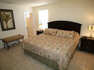 South Padre Island house photo - Upper unit - Roomy master bedroom with king size bed