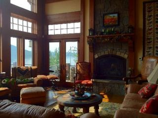 Grand Lake house photo - Great room, gas fireplace, magnificent views. Access to deck.
