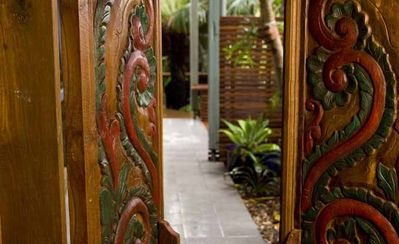 Your entrance to your private tropical water garden and sanctuary