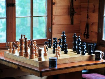 Play some chess in the Lodge!