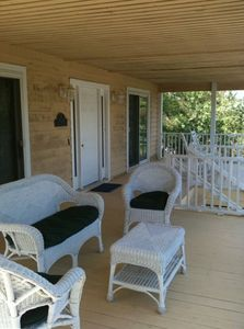 Front deck with wicker furniture & rockers