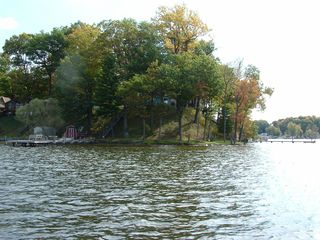 Watervliet property rental photo - On the water looking at the house