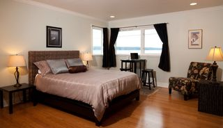 Bainbridge Island house photo - Master bedroom with birdseye views
