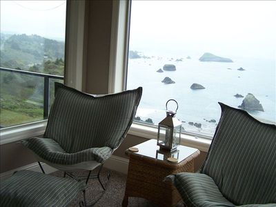 Settle into the comfy chairs and enjoy the view.