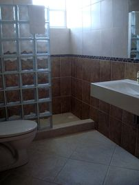 Bathroom with hot water shower
