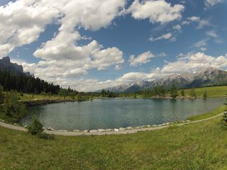 Canmore condo photo - Quarry Lake in Canmore, always a popular spot on a sunny, warm day.