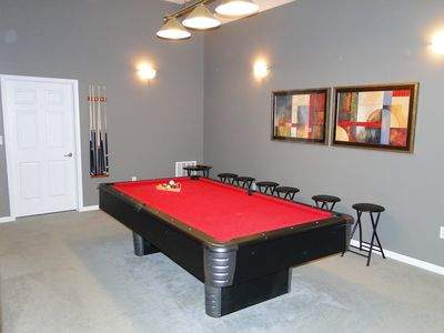 Lower Level Pool Table Room - 8 foot table