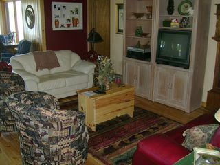 Walker cabin photo - Living room with cable TV, stereo, and cd/dvd player