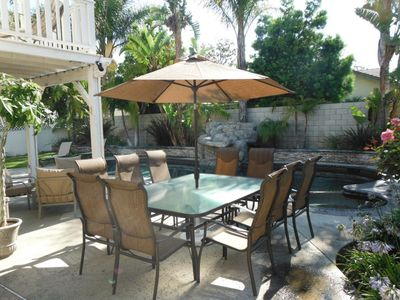 Anaheim house rental - Outside Dining Seats 10 by the Pool!