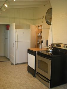 Kitchen: Stove, Dishwasher, Two Refrigerators