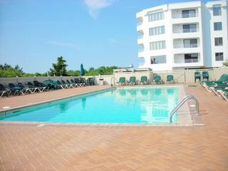 Brigantine condo photo - Morning by the pool.