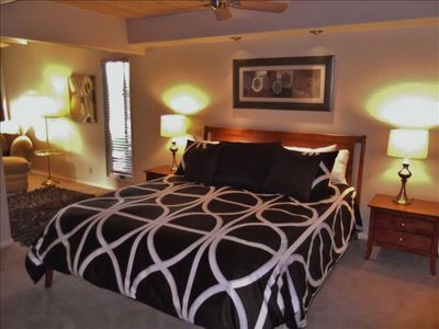 Large master suite - with king bed, reading nook, and spacious walk-thru closet.
