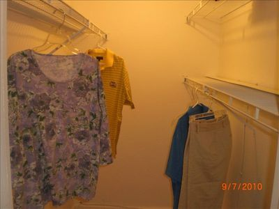 Extra large - 6 foot - closet!!! Extended stay guests love the extra space!