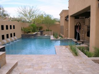 Mesa house photo - Pool with custom designed water feature.