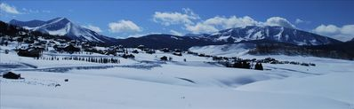 Panorama of the wilderness area just outside of Historic Crested Butte.