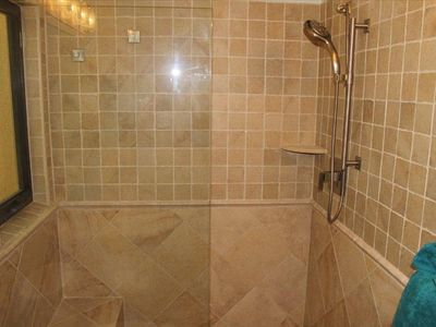 Cruz Bay condo rental - New Walk-In Shower at Bliss